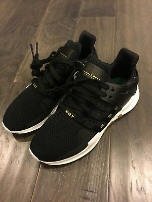 best service 1ba6d 5d1ad Adidas Equipment Support Adv W EQT Shoes Sneakers New AC7972 Black Gold  Size 7.5