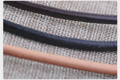 Round leather cord, leather cord bracelet necklace DIY material 1.5mm To 8mm