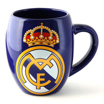 Real Madrid FC Tea Tub Mug Cup Coffee Ceramic In A Clear Gift Pack New Xmas