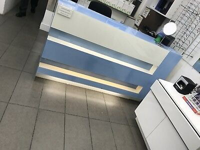 Office, Business, Sleek Reception desk, used, excellent condition, 2 - 3 person