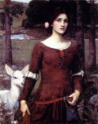 Handmade Oil Painting repro John William Waterhouse The Lady Clare