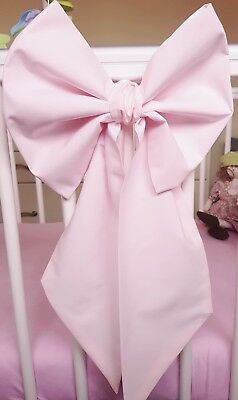 Nursery Decor Baby Girls Large Cot Bow x 1 Available in Pink, Grey or White