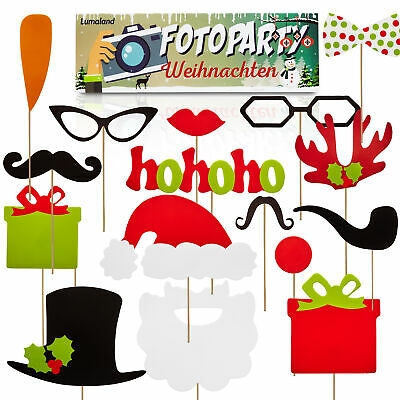 Foto Party Masken Set Photo Booth Props Partyspaß X-Mas Requisiten Accessoires