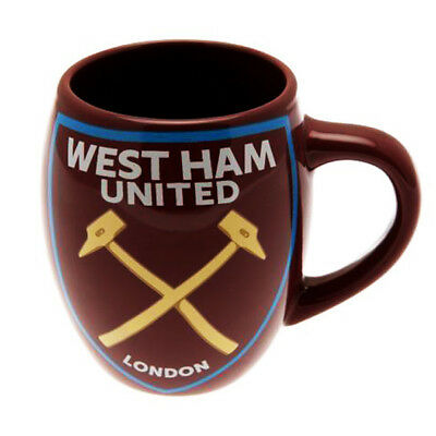 West Ham United FC Tea Tub Mug Cup Coffee Ceramic In Clear Gift Pack New Xmas
