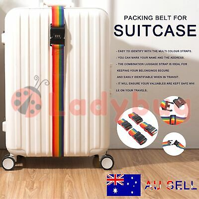 4x Travel Luggage Suitcase Bag Packing Secure Safe Strap Belt Password Lock 2M
