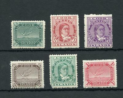 Cook Islands 1913-19 set SG39/46 MLH - see desc