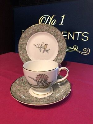 Wedgwood Humming Birds Tea Cup Saucer and Side Plate Trio