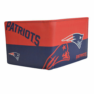 daa54682b NEW ENGLAND PATRIOTS NFL Embossed Genuine Cowhide Leather Trifold ...