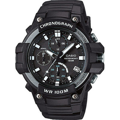 Orologio Casio collection da uomo analogico data cronografo sport nero 49 mm