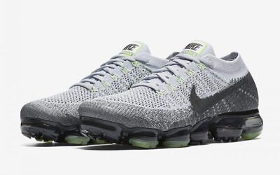 Nike Air VaporMax Flyknit size 14. Heritage Neon Pack Pure Platinum. 922915-002.