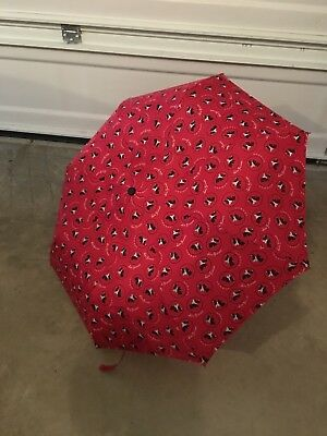 Scotty Scottie Dog Red Umbrella with Black Dogs LuLu Guinness London
