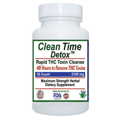 THC  Detox - Clean Time - Supports Removal THC Toxins in 2 Days, 48 Hours