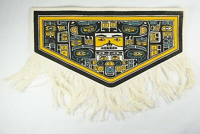 Vintage Souvenir Chilkat Blanket Robe Miniature Reproduction Textile Northwest