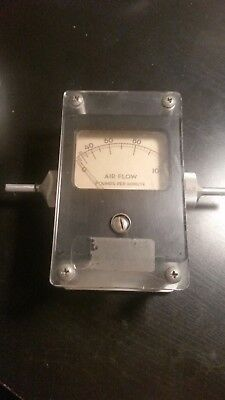 V-9326 Air Flow Meter Illinois Anemometer 0-100 Pounds Per Minute