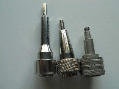 3 x Surgical/Medical Connectors. Stainless Steel. Swiss Made. Free UK P&P.