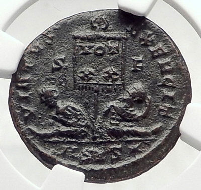 CONSTANTINE I the GREAT Authentic Ancient 320AD Roman Coin CAPTIVES NGC i73082