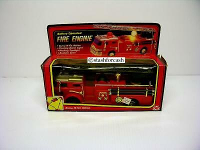 Rare 1987 New Bright Fire Engine / Molded from 1970 Hess!