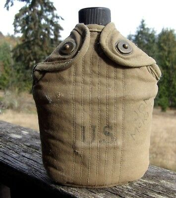 Wwii Us Army Canteen Cup & Cover Named & Dated 1943 -44-45