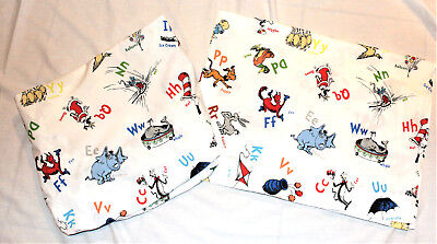 Pottery Barn Kids Dr Seuss Flat & Fitted Sheet Alphabet Sheets Crib Toddler Bed