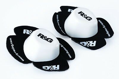 R&G Racing Aero Knee Sliders for Wet Track/Road/Race in White