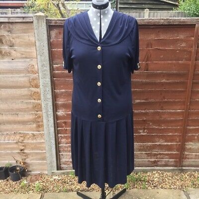 80s navy sailor dress true vintage. size 16