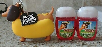 Bath & Body Works Wiener Dachshund Barking Dog Pocketbac Holder with Sanitizers