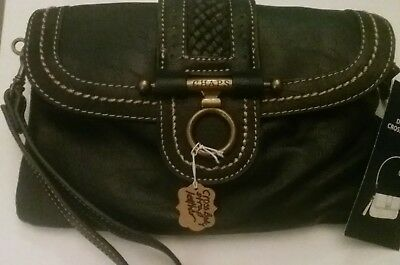 01363db1546a Brand New Black Leather Purse With Detachable Crossbody Straps From Chaps