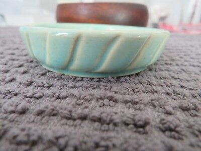 Antique Weller Saucer - Aqua Green - No damage