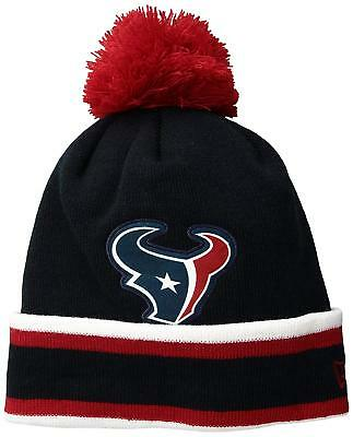 best authentic 8b918 bcf63 NFL Houston Texans New Era Relaxed Sport Knit Hat Beanie SKi Cap Stripes Pom