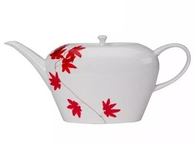 Debenhams Spal Fall Contemporary teapot, Red & White Beautiful Design New Unused