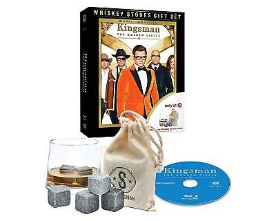 Kingsman The Golden Circle Blu-ray + DVD + Digital Whiskey Stones Gift Set