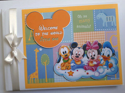 Baby Disney Characters Birthday / Baby Shower Guest Book - Any Design