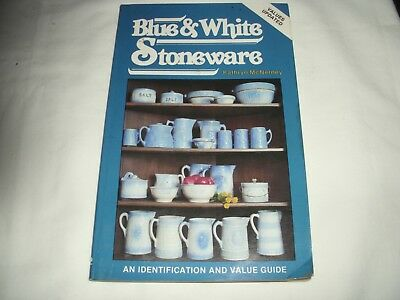 BLUE & WHITE STONEWARE BY KATHRYN Mc Nerney - Identifacion and Price Guide 1981