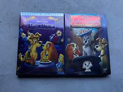 Lady and the Tramp 1 and 2 Scamp's Adventure DVD Disney Movie Bundle