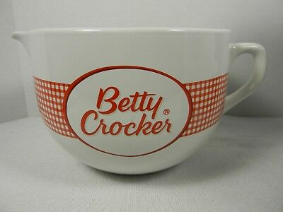 Betty Crocker Red & White Check Mixing Batter Bowl with Handle & Pouring Spout