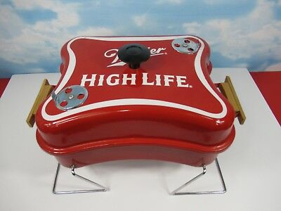 c98b4362d8286 Miller High Life Beer BBQ Grill - Rare Logo Shaped Table Top Tailgate Lite