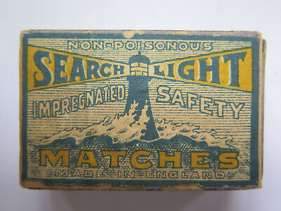 SEARCHLIGHT EMPTY MATCHBOX SAFETY MATCHES USED CONDITION MADE in ENGLAND 1940s