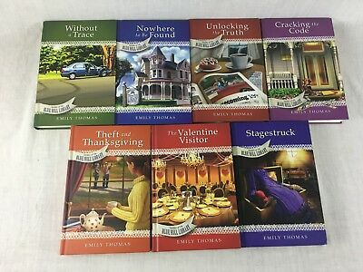 Secrets of the Blue Hill Library Series by Emily Thomas Hardcover Book Lot of 7