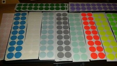 162 Blank rummage garage yard sale stickers labels price tags tabs 9 colors