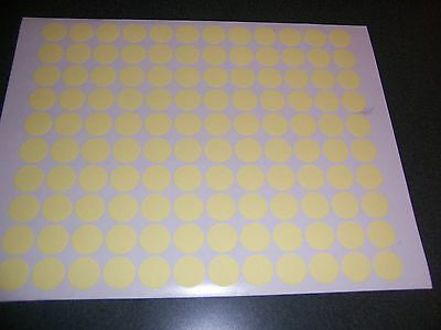 1200 YELLOW PASTEL Blank rummage garage yard sale stickers labels price tags