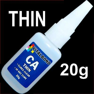 Vitalbond CA Thin 20g Super Glue 10 Sec Cure Model car Plastics,Metal,Balsa Wood