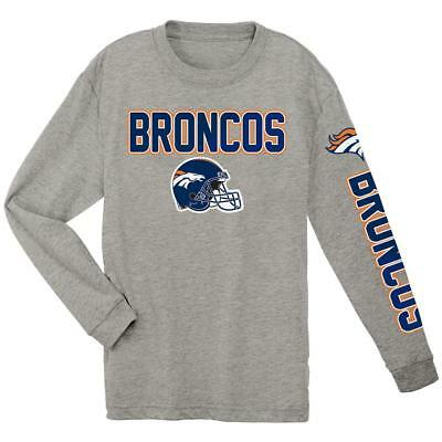 9af32c0ce Denver Broncos NFL Boys  Gray Long-Sleeve T-Shirt Size Small (8