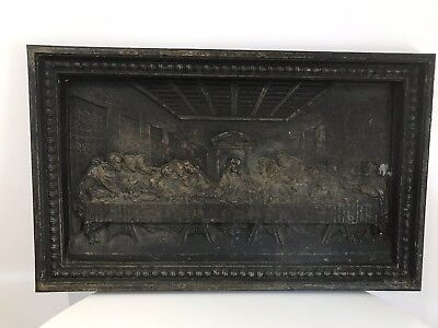 The Last Supper Museum Grade Coalbrookdale Cast Iron Wall Plaque Circa 1850