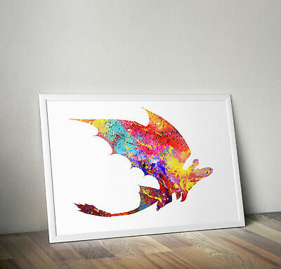 How to Train Your Dragon inspired poster print wall art gift toothless