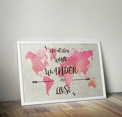 Lord of the rings gandalf travel quote poster print wall art gift inspiring
