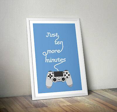 Playstation print, poster, gaming, quote, wall art, gift, gamer decor, picture