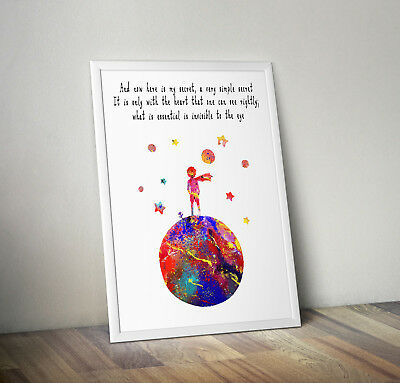 The little prince inspired poster print wall art gift story merchandise nursery