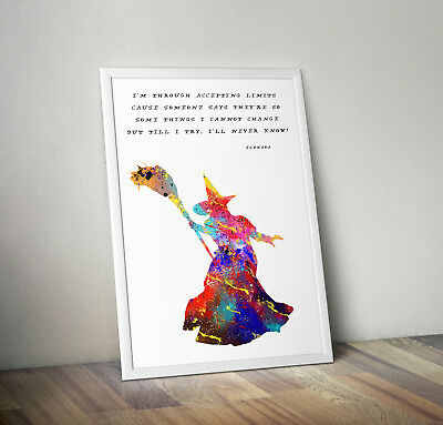 Wicked print, poster, musical, quote, wall art, gift, inspirational, home decor
