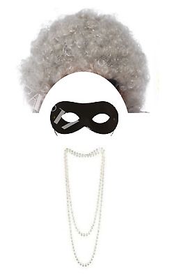 Gran Granny Old Lady OAP Pensioner Burglar Fancy Dress Costume Accessories