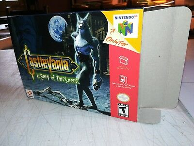 Castlevania Legacy of Darkness N64 Replacement Art Case/Box ONLY!!!